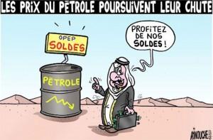 la chute du prix-petrole