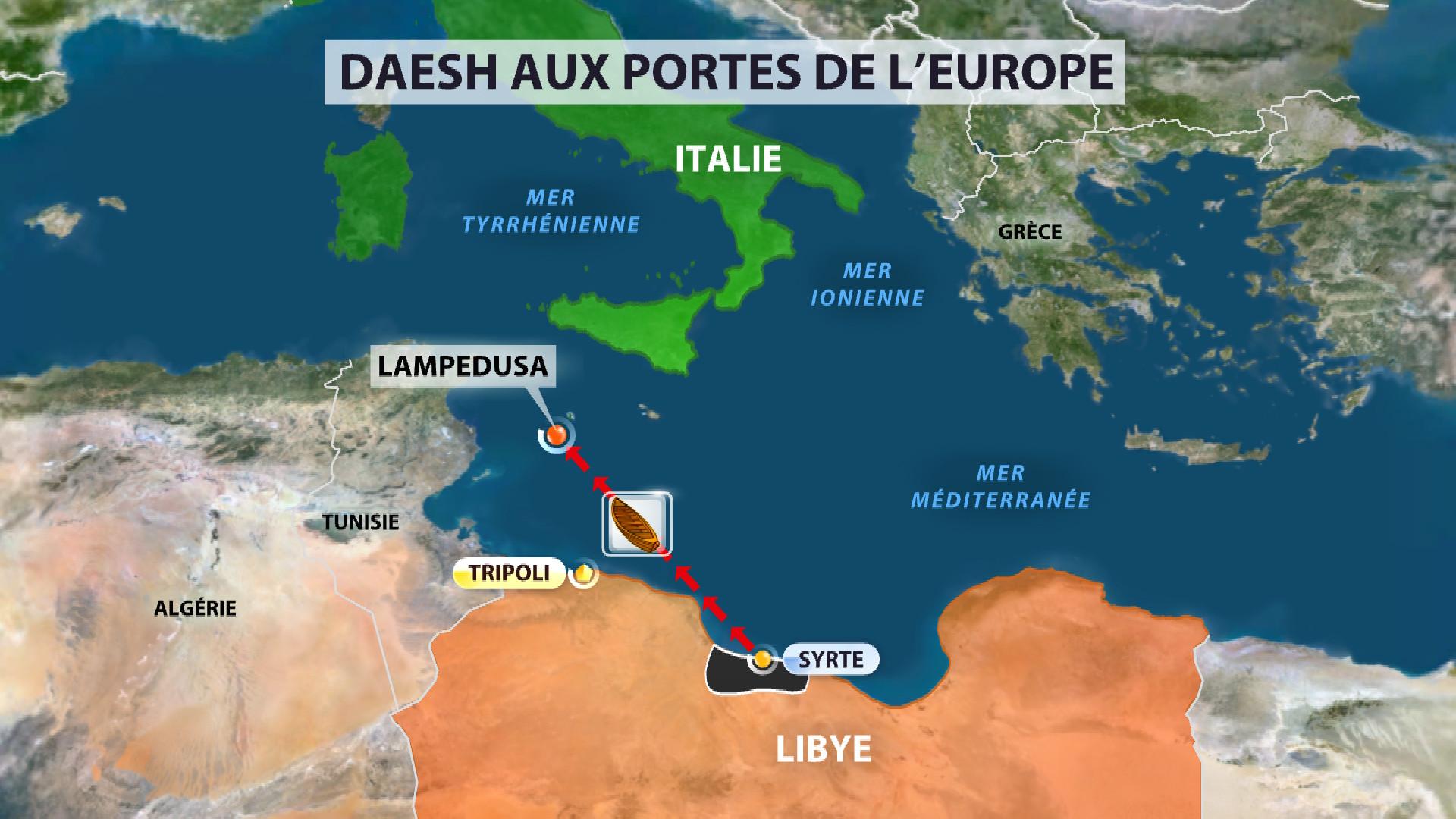 """Jean-Yves Le Drian est """"trأ¨s inquiet"""" de la progression de Daech en Libye"""