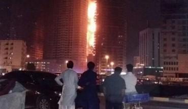 incendie emirats arabes unis