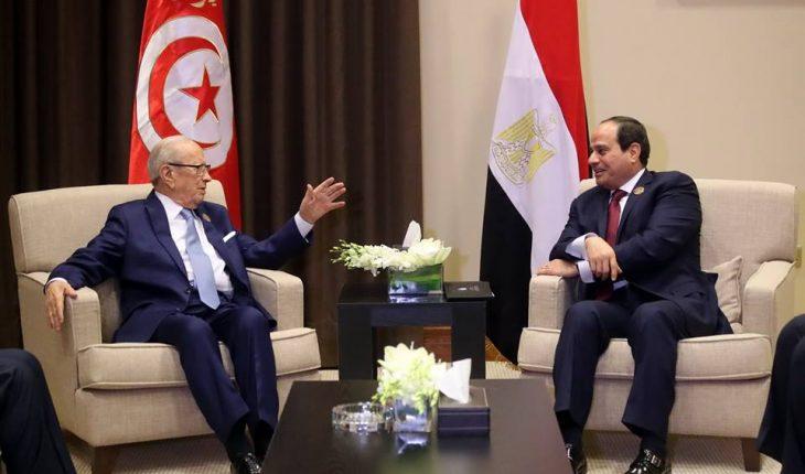 beji sissi tunisie egypte